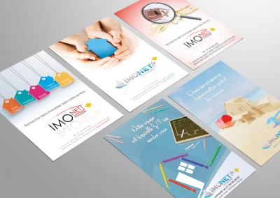 "Flyers pour <a href=""http://www.imonet.fr/"">Imonet immobillier</a>"